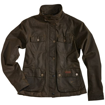 Rokker wax cotton ladies jacket in green