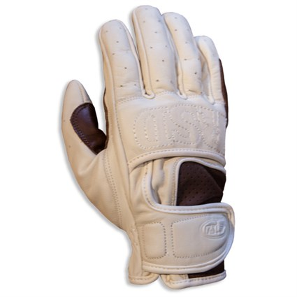 Roland Sands Mission gloves in white