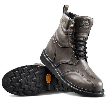 Roland Sands Mojave boots in grey