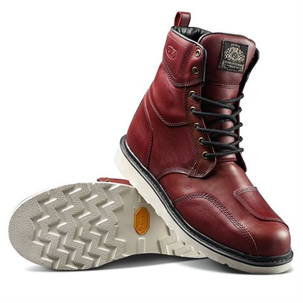 Roland Sands Mojave boots in red