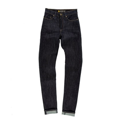 Resurgence Cafe Racer Raw ladies skinny jeans in blue