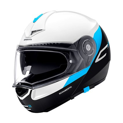 Schuberth C3 Pro helmet in gravity blue