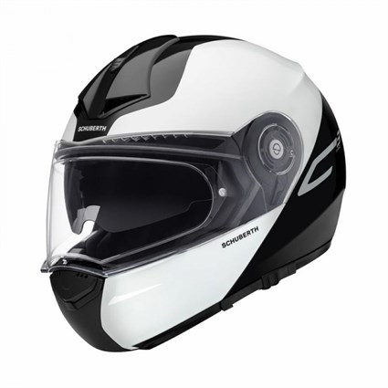 Schuberth C3 Pro Split helmet in white