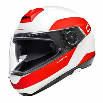 Schuberth C4 Pro Fragment helmet in red