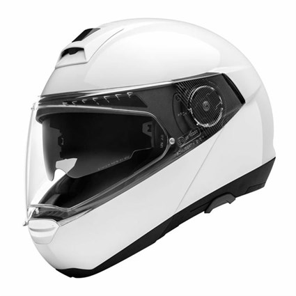 Schuberth C4 Pro Gloss helmet in white