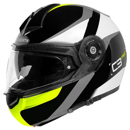 Schuberth C3 Pro Sestante helmet in yellow