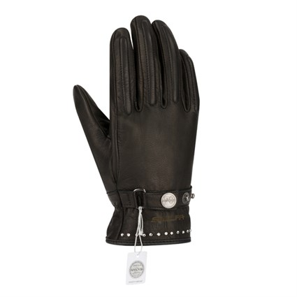 Segura Cox Swarovski ladies gloves in black