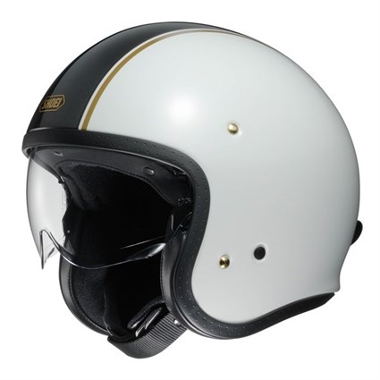 Shoei JO Carburettor TC-6 helmet in white / black