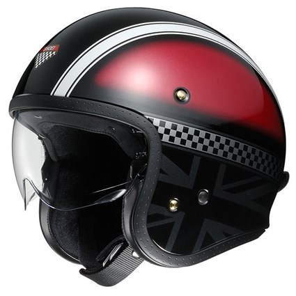 Shoei JO Hawker TC-1 helmet in black / red