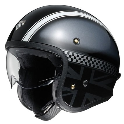 Shoei JO Hawker TC-5 helmet in black / grey