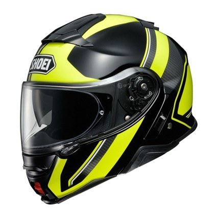 Shoei Neotec 2 Excursion TC3 helmet in black / yellow