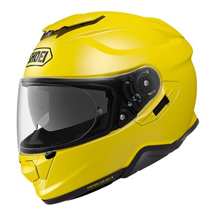Shoei GT Air 2 Plain helmet in brilliant yellow