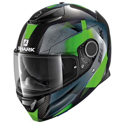Shark Spartan Carbon Kitari helmet in green