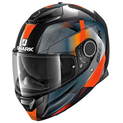 Shark Spartan Carbon Kitari helmet in orange