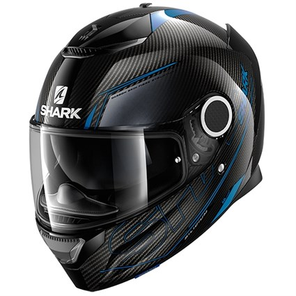 Shark Spartan Carbon Silicium helmet in blue