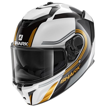 Shark Spartan GT Tracker WKQ helmet in white/ black
