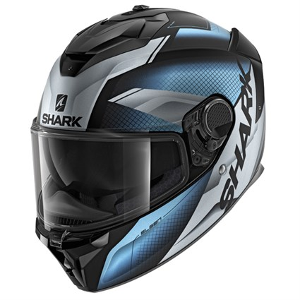 Shark Spartan GT Elgen MAT KSS helmet in blue/ black