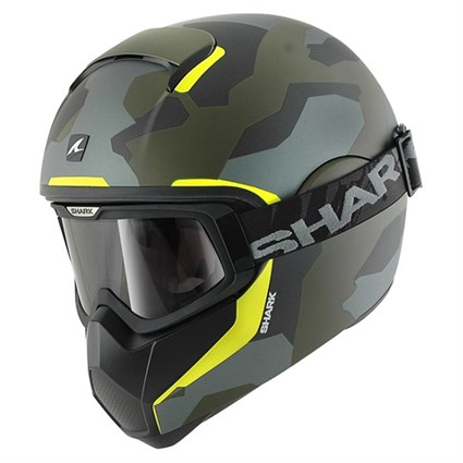 Shark Vancore Wipeout helmet in camo / green