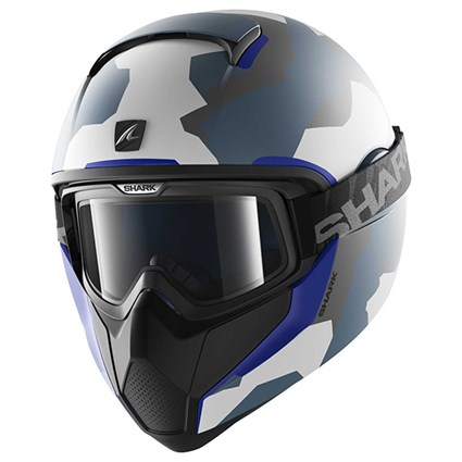 Shark Vancore Wipeout helmet in camo / blue