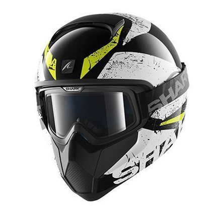 Shark Vancore Braco helmet in black / white / yellow