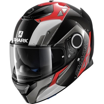 Shark Spartan Carbon Silicum helmet in black / red