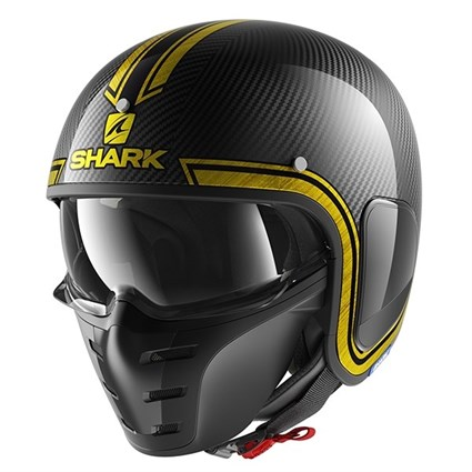 Shark S-Drak Vinta helmet in black / yellow