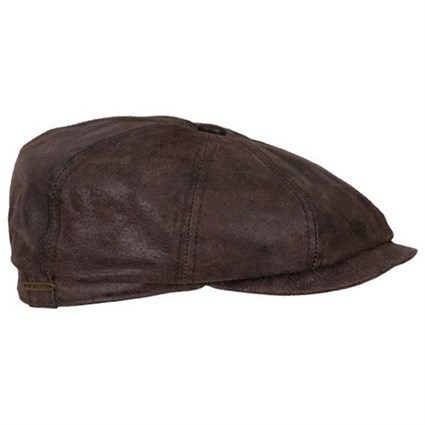 Stetson Hatteras Pig Leather Cap in brown