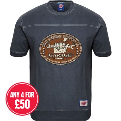 Retro Legends The Busted Knuckle Garage T-sweat in blue