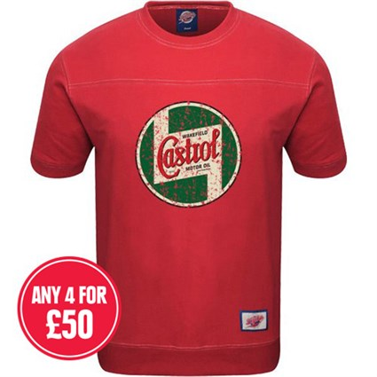 Retro Legends Castrol T-Sweat - Red