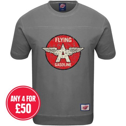 Retro Legends Flying A Gasoline T-Sweat Grey