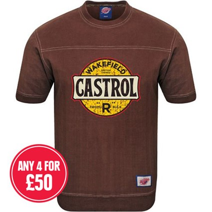 Retro Legends Wakefield Castrol T-Sweat - Brown