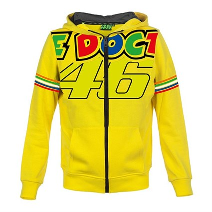 Rossi 2018 kids The Doctor Hoodie in yellow