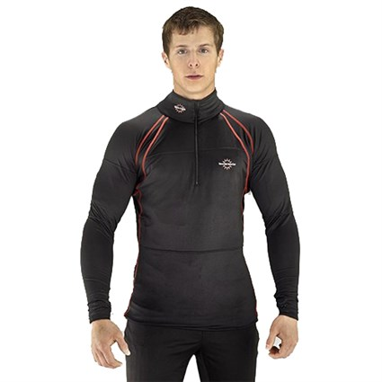 Warm & Safe 12v heated base layer shirt in black