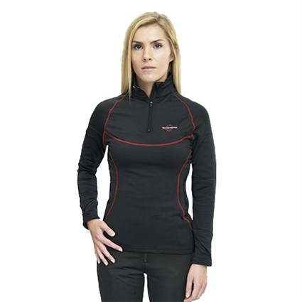 Warm & Safe 12v ladies heated base layer shirt in black