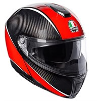 AGV Sport Modular Aero helmet in carbon / red