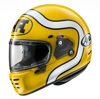 Arai Rapide HA helmet in yellow
