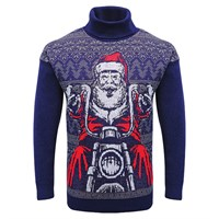 Motolegends in navy Christmas Jumper