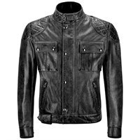 Belstaff Mojave Wax Leather Black Jacket