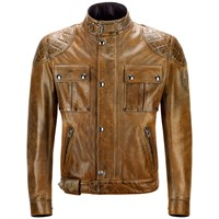 Belstaff Mojave leather jacket in brown / black