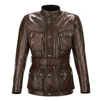 Belstaff Aintree Trialmaster leather jacket in brown / black