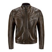 Belstaff Supreme leather jacket in dark brown