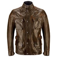 Belstaff Turner leather jacket in burnt cuero
