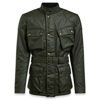 Belstaff Trialmaster Pro wax cotton jacket in olive green