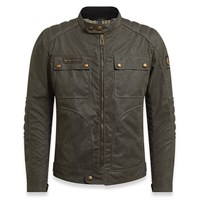 Belstaff Roberts wax cotton jacket in black/ brown