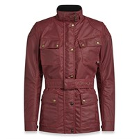 Belstaff Trialmaster Pro wax cotton ladies jacket in racing red