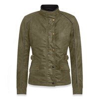 Belstaff Tourmaster Pro wax cotton ladies jacket in green