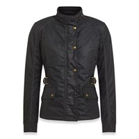 Belstaff Tourmaster Pro wax cotton ladies jacket in black