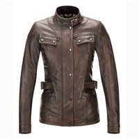 Belstaff Crystal Palace leather ladies jacket in brown
