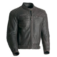 Bering Carter leather jacket in brown