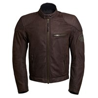 BKS Leather jacket in matt brown